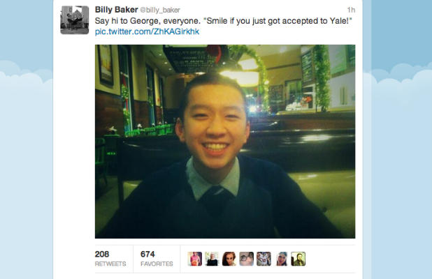 Boston Globe reporter Billy Baker narrates a young man's journey to Yale University. Source: http://bit.ly/19Qc7Sy