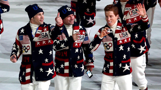 Team USA wears Ralph Lauren's Olympic Ceremony cardigans. (Photo Credit: Getty)